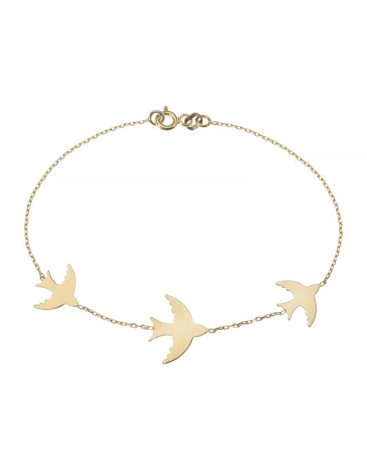 Talia Naomi | Metallic Fly Me To The Moon Bracelet Gold | Lyst