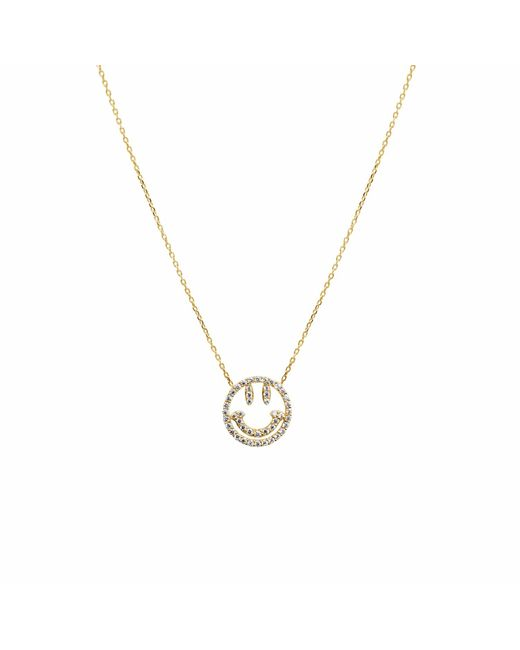 Talia Naomi | Metallic Why So Serious Necklace Gold | Lyst