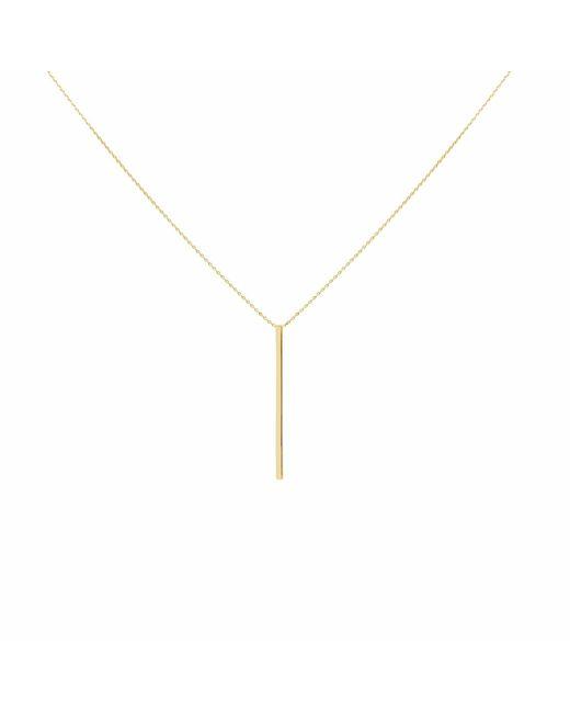 Talia Naomi | Metallic Drop Me A Line Necklace Gold | Lyst