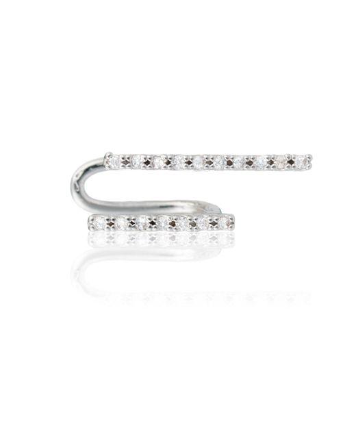 Astrid & Miyu | Metallic The Two-timer Diamante Ear Cuff | Lyst