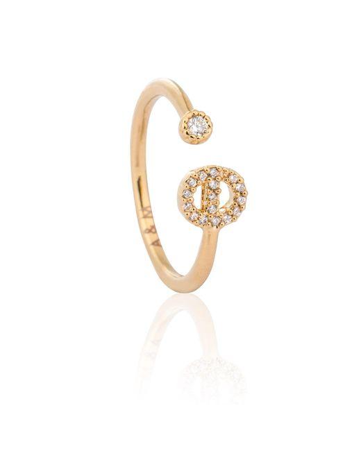 Astrid & Miyu - Metallic Gold Initial E Ring - Lyst