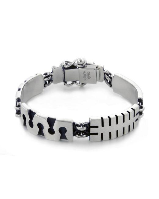 Jan D - Metallic Oxidized Bracelet - Lyst