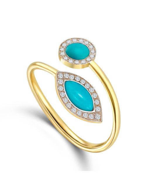 Elham and Issa Jewellery - Blue Awe Diamond Ring - Lyst