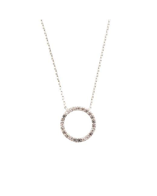 Latelita London - Metallic Sparkling Halo Necklace Silver - Lyst