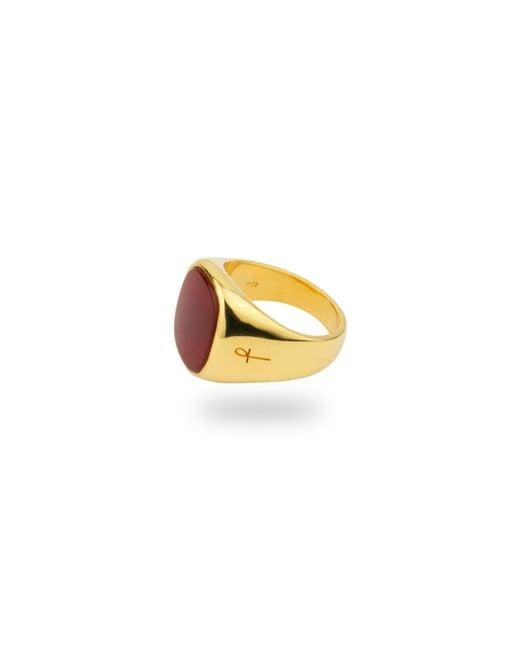Phira London - Multicolor Jamestown Red Carnelian Agate Gold - Lyst