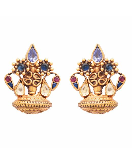 Carousel Jewels - Metallic Dyed Crystal Clustered Studs - Lyst