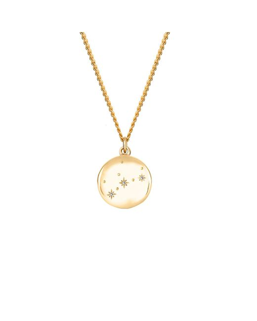 No 13 - Multicolor Virgo Zodiac Constellation Necklace Yellow Gold & Diamonds - Lyst