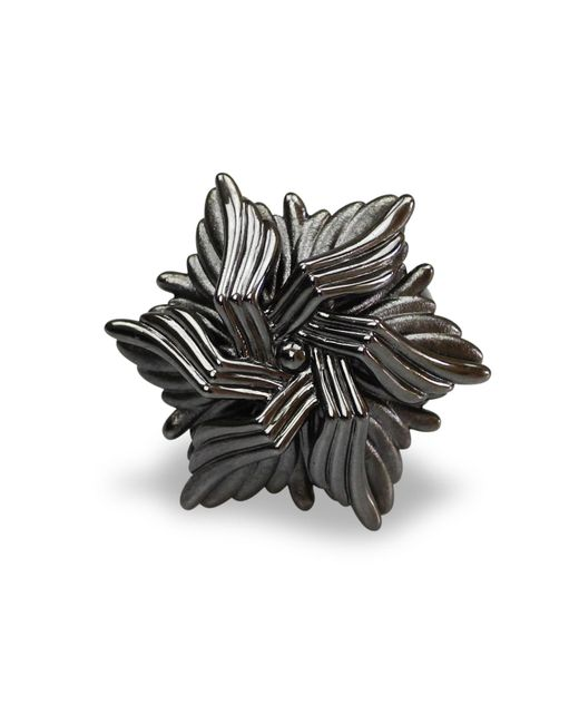 Bellus Domina | Gray Geometric Sea Flower Ring | Lyst