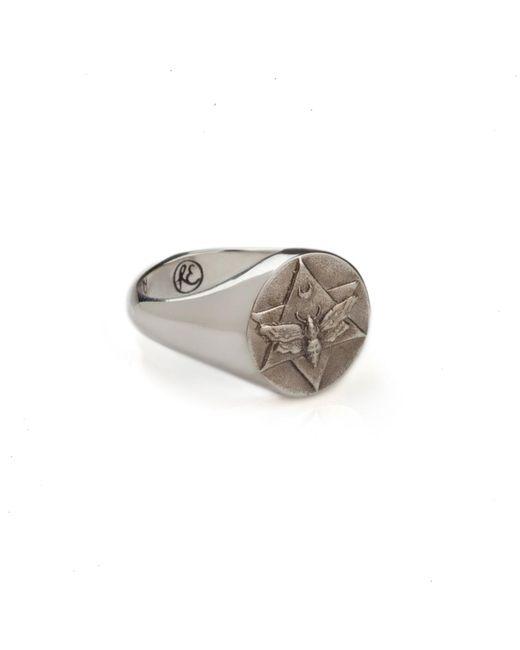 Rachel Entwistle | Metallic The Lunar Signet Ring Silver | Lyst