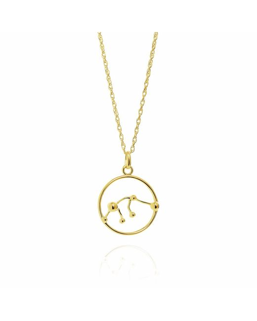 Yasmin Everley Jewellery - Metallic Aquarius Astrology Necklace In 9ct Gold - Lyst