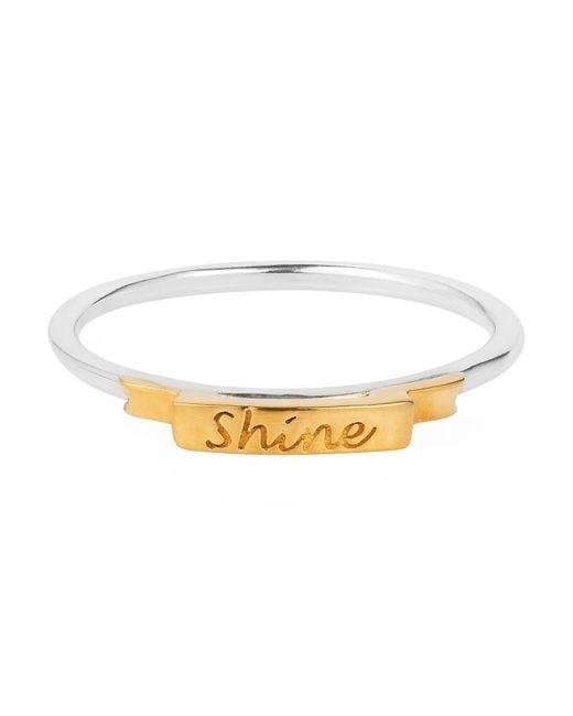 Lee Renee | Metallic Shine Ring Gold Vermeil | Lyst