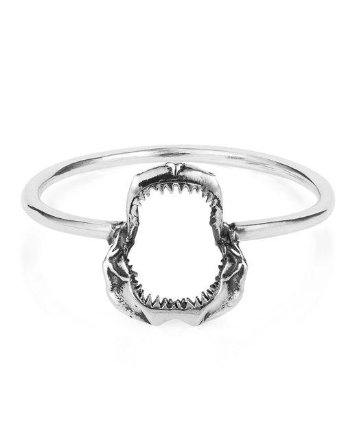 Lee Renee | Metallic Mini Shark Jawbone Ring Silver | Lyst