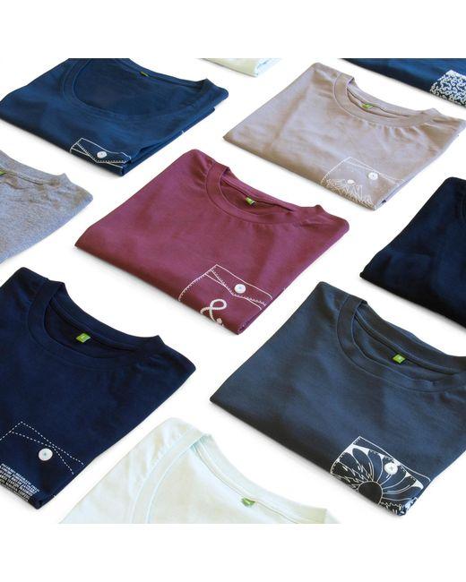 Lyst anchor crew steel blue organic cotton digit print for Organic cotton t shirt printing