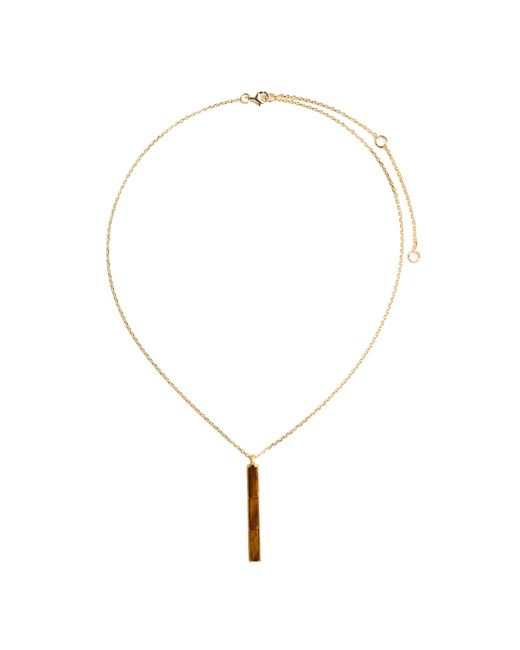 Ona Chan Jewelry | Brown Rectangle Pendant With Tiger's Eye | Lyst
