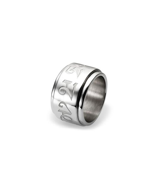 Ona Chan Jewelry | Metallic Spinning Mantra Ring Silver | Lyst