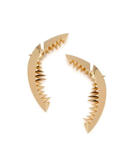 Kasun - Metallic Shark Bay Earrings Gold - Lyst