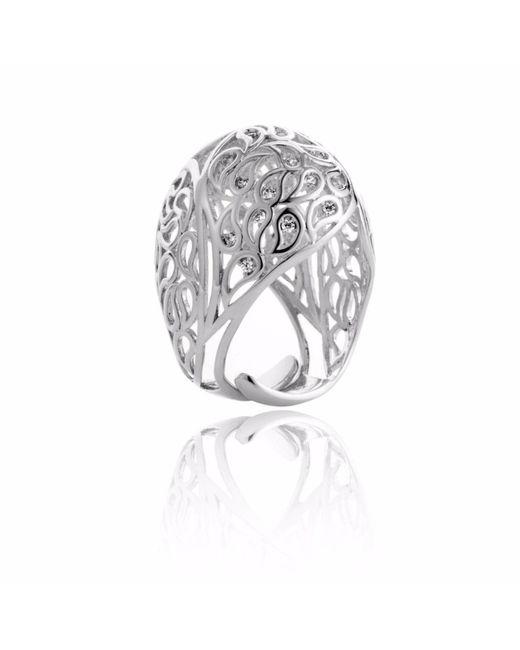 Sonal Bhaskaran | Metallic Shikhara Silver Dome Ring Clear Cz | Lyst