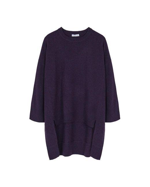 Ille De Cocos - Purple Merino Cape Sweater Violet Fleck - Lyst
