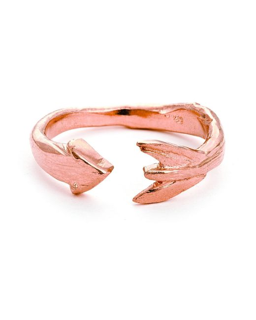 Chupi - Pink Follow Your Dreams Arrow Ring In Rose Gold - Lyst