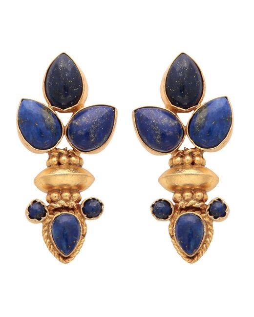 Carousel Jewels | Metallic Elegant Multi Lapis Gold Earrings | Lyst