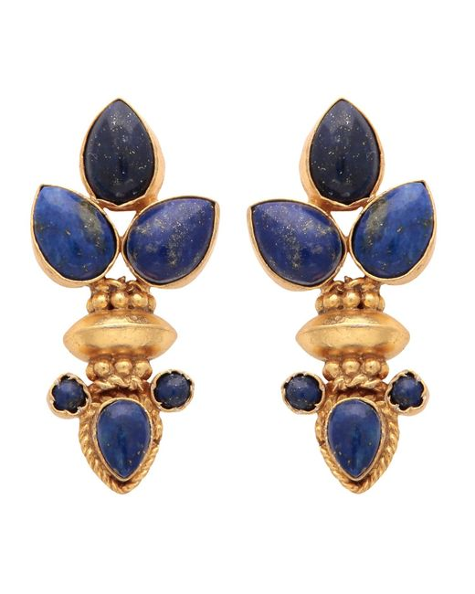 Carousel Jewels - Metallic Elegant Multi Lapis Gold Earrings - Lyst