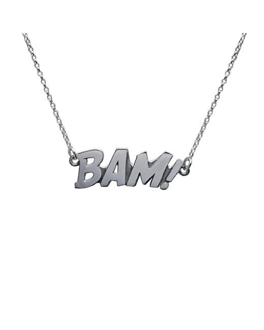 Edge Only | Metallic Bam Letters Necklace Large In Silver | Lyst