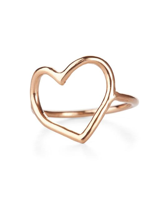 Chupi Metallic My Heart Is Open Ring Solid Gold