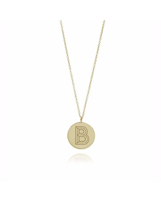 Myia Bonner | Metallic Gold B Facett Initial Necklace | Lyst