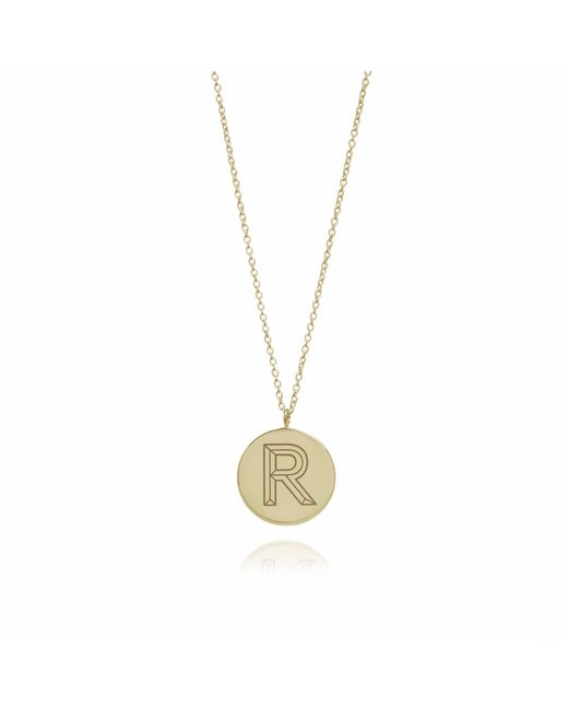 Myia Bonner | Metallic Gold R Facett Initial Necklace | Lyst