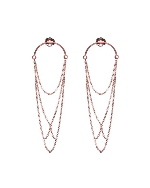 Dutch Basics | Metallic Boog Drop Earrings Arch Rose Gold | Lyst