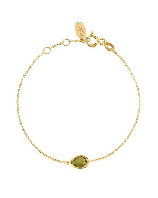 Latelita London - Metallic Pisa Mini Teardrop Bracelet Gold Peridot - Lyst