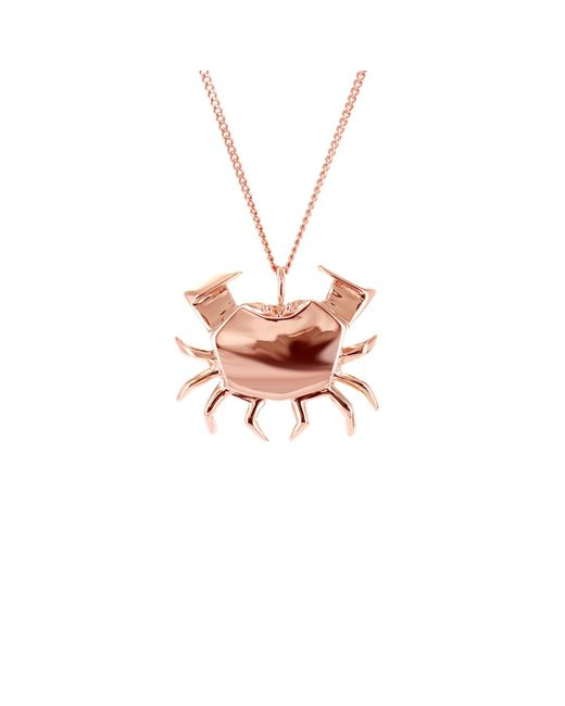 Origami Jewellery | Metallic Crab Necklace Rose Gold | Lyst