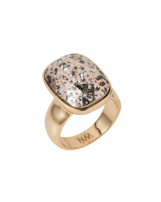 Nadia Minkoff - Metallic Oblong Vertical Ring Gold Patina - Lyst