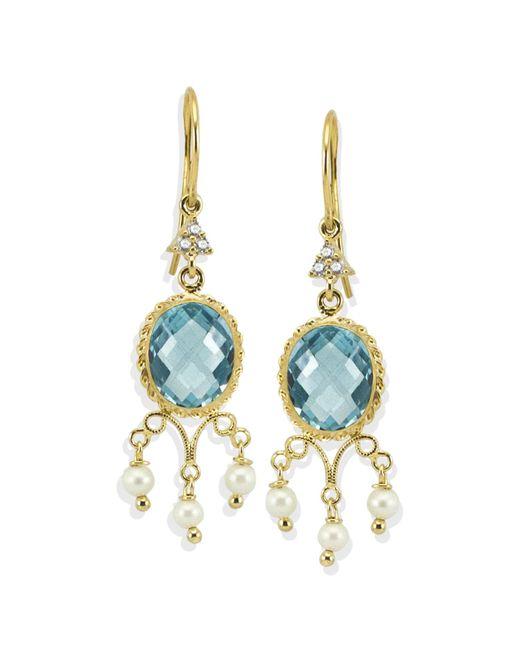 Vintouch Italy - Positano Blue Topaz Earrings - Lyst