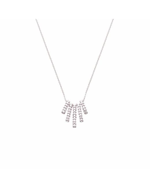 Ri Noor - Metallic Five Diamond Bar Necklace - Lyst