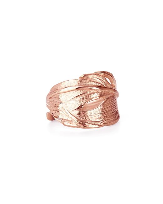 Chupi | Pink Swan Feather Ring Rose Gold | Lyst