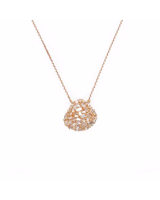 Ri Noor - Metallic Organic Shape Baguette Diamond Necklace - Lyst