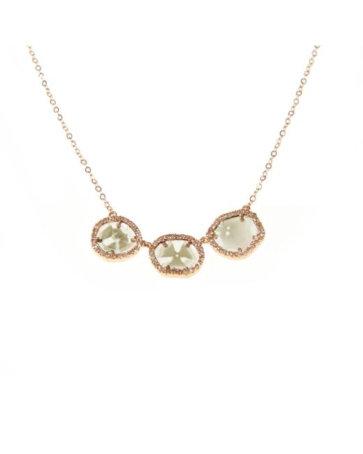 Ri Noor - Metallic Diamond Slice Gold Trio Necklace - Lyst