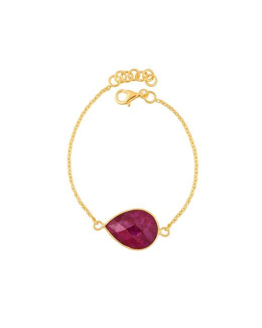 Juvi Designs | Red Egadi Tear Drop Bracelet With Ruby | Lyst
