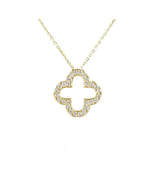Latelita London | Metallic Open Clover Necklace Gold | Lyst