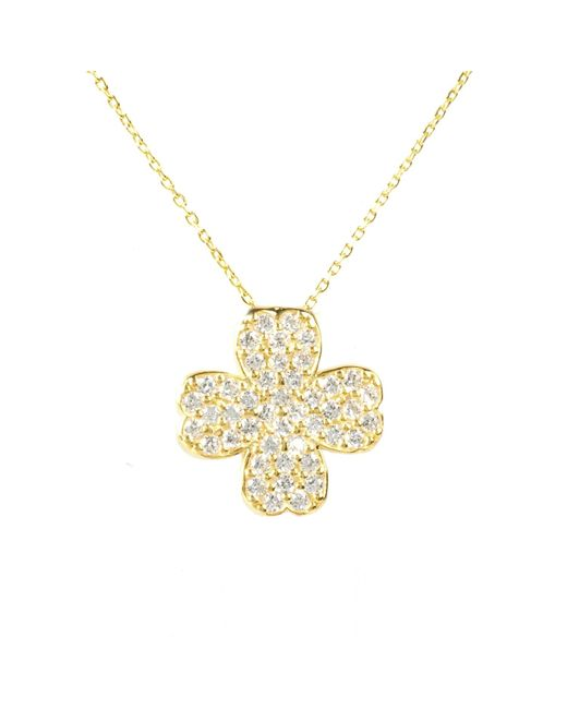 Latelita London | Metallic Lucky Clover Necklace Gold | Lyst
