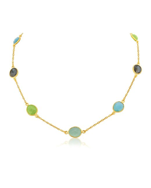 Auree Jewellery Metallic Sotisse Multi Gemstone & Gold Vermeil Necklace