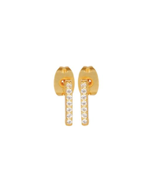 Carousel Jewels | Metallic Mini Gold Studs With Crystals | Lyst