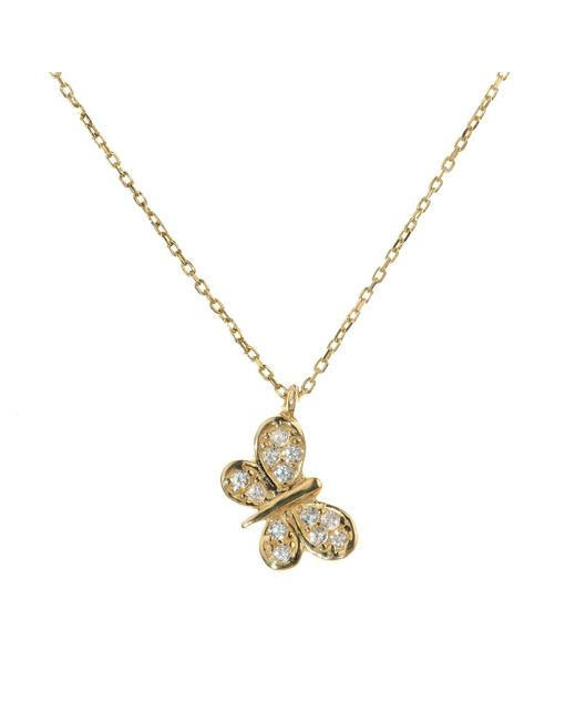 Talia Naomi | Metallic Fly Away With Me Necklace | Lyst