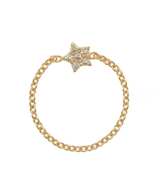 Talia Naomi | Metallic Wish Upon A Star Chain Ring | Lyst