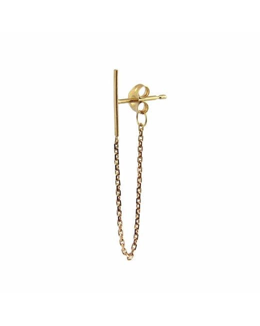 Irena Chmura Jewellery - Metallic Line & Chain Earring Single - Lyst