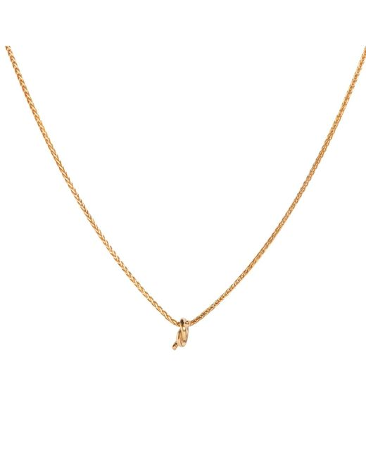 Dutch Basics | Metallic Gold Plated Necklace With Gold Plated Knot Pendant | Lyst