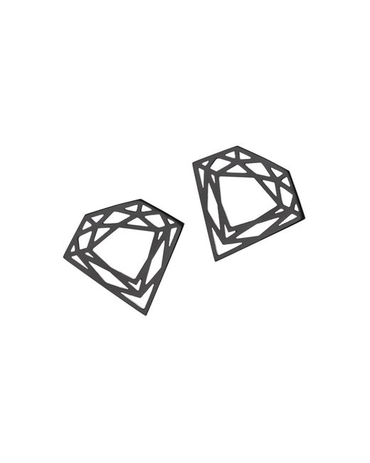 Myia Bonner | Black Classic Diamond Stud Earrings | Lyst