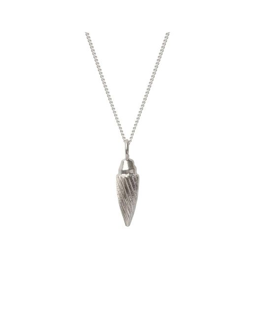 Edge Only - Metallic Spiral Drop Necklace In Silver - Lyst