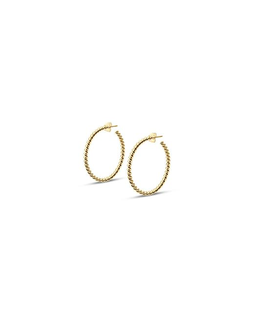 Isabel Lennse - Metallic L Thin Twisted Gold Loops - Lyst